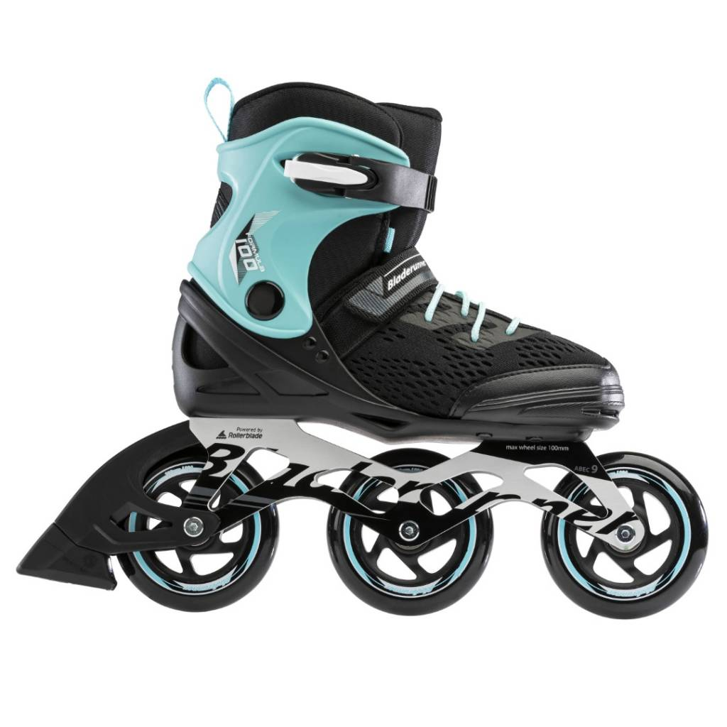 PATINES-PERFORMANCE FORMULA 100 W 0T100500821 | Tamaño: 22.0-27.0 (FULL SIZES ONLY) | Color: NEGRO/AZUL CLARO